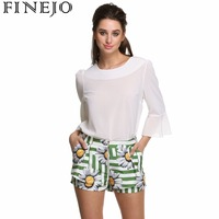 FINEJO Women S Beach Shorts Personality Printing Summer Thin Section Breathable Comfort Casual Women S Shorts