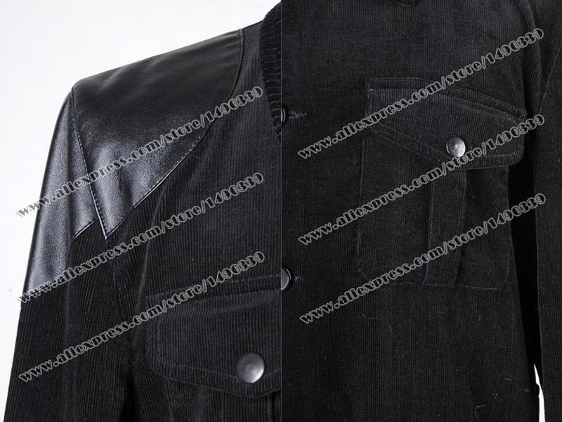 Sherlock Holmes Dr John Watson Black Jacket Cosplay Costume /<Custom Made/>