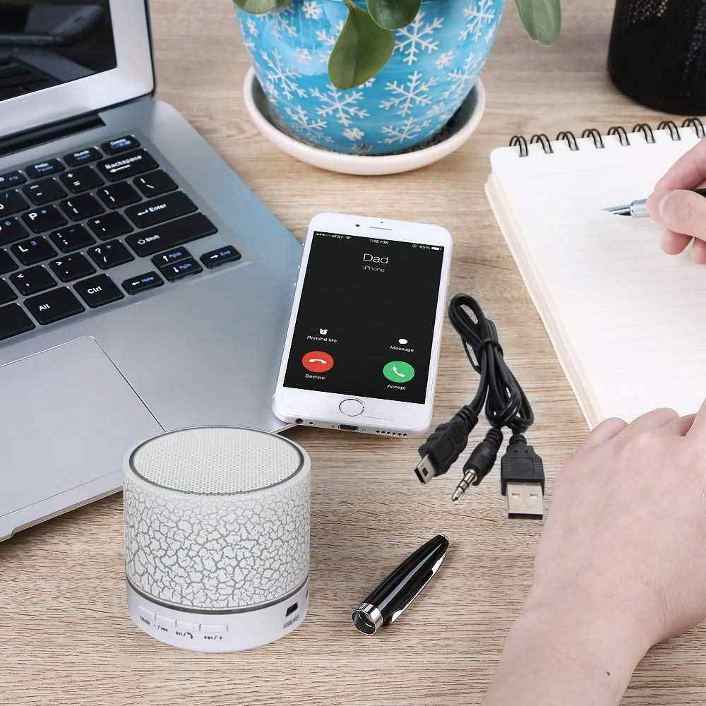Mini Bluetooth Speaker Wireless Portable Sound Box Subwoofer Music Blutooth Speaker with Mic LED Light Support USB AUX TF Card
