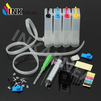INKARENA Universal Continuous Ink Supply System CISS DIY Kit Replacement For HP 21 22 121 For