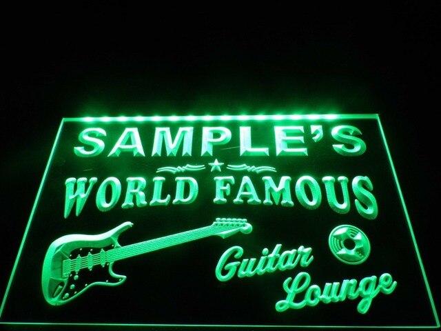 DZ007- Guitar Lounge Beer Bar Pub Room LED Neon Light Sign
