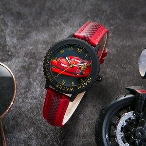 Image 4 - Cars Lightning Mcqueen Jackson Storm Kinderen Quartz Disney Horloge Jongen Sport Mode Pu Waterdichte Horloges Kid Horloge Gift
