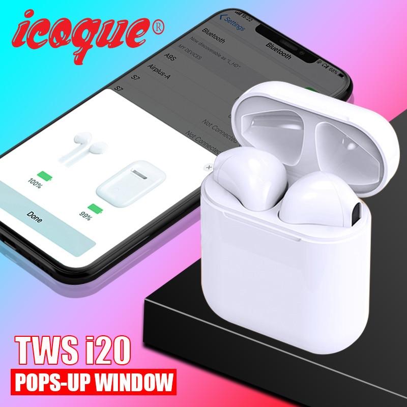Pop up 2019 i20 TWS sans fil Bluetooth 5.0 Mini casque 1:1 basse casque sans fil PK i12 i10 TWS i11 i13 i14 i7s i9s