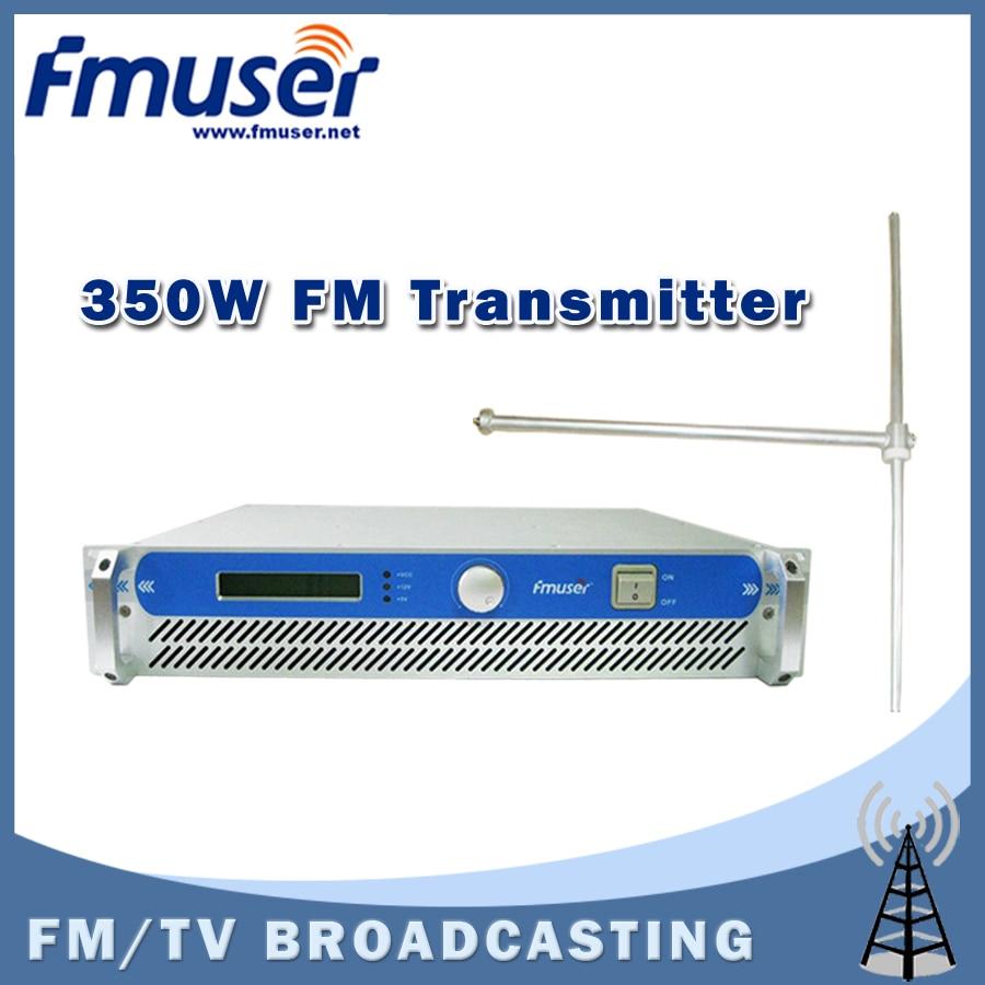 Free shipping FMUSER FSN-350 350w 2U Professional FM Broadcast RadioTransmitter exciter+ FU-DV1 Dipole antenna + 20M 1/2'' CABLE free shipping fmuser fu 30c new 30w fm transmitter 0 30w adjustable for fm radio station 1 2 wave dipole antenna kit