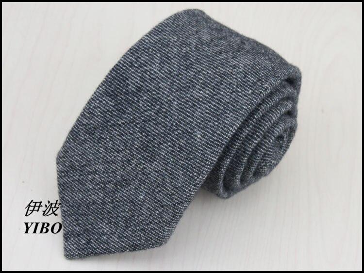 (1 Teile/los) Männer Krawatte/100% Wolle/graue Dünne Horizontale Stripeshigh-qualität Herren Business Schwarze Krawatte, Freies Verschiffen Hoher Standard In QualitäT Und Hygiene
