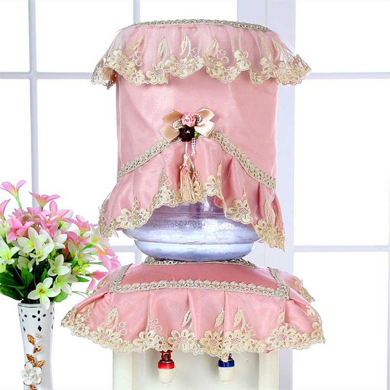 1 Set Fasion High-grade Lace Water dispenser Dust cover Water dispenser Cloth cover Bucket cover Water purifier cloth cover
