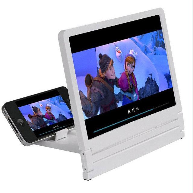 Universal Plegable Portable Vidrio Orgánico Ampliar Lupa Soporte de Pantalla Del Teléfono Móvil Con Soporte Para Los Teléfonos Samsung 3X Veces