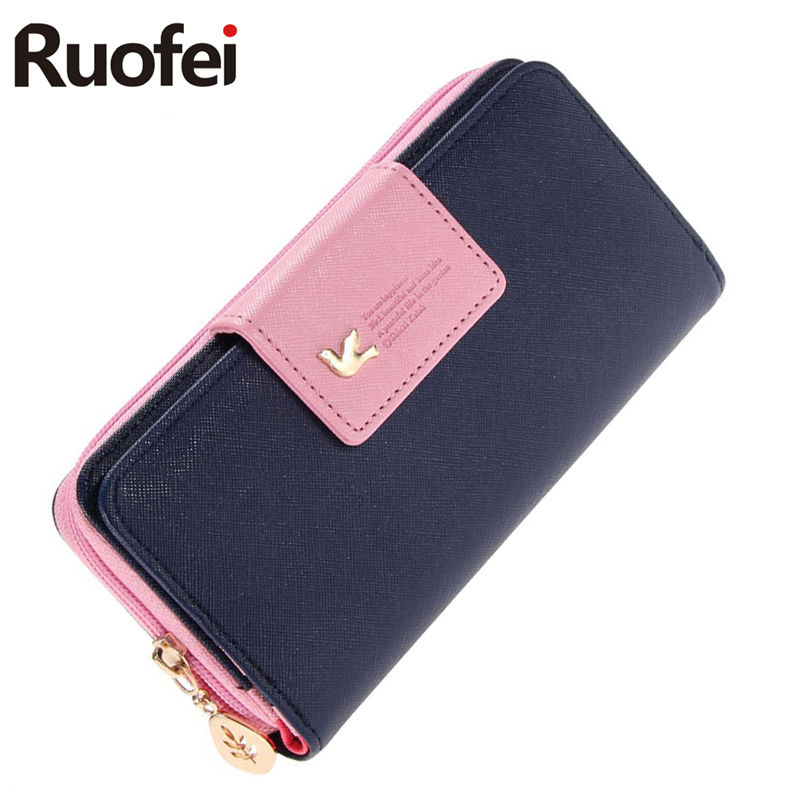 fashion Women Wallet Luxury Female Feminina Long Wallets Ladies PU Leather Zipper Purse Card Holders Clutch Money Bag guapabien women purse long bow wallets candy color wallet pu thin card holders purse female carteira feminina portefeuille femme