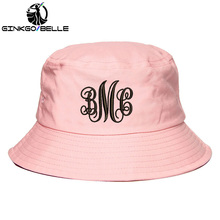 Personalized Custom Bucket Hat Monogrammed Embroidered Summer Monogram Letter Bridesmaids Cap bridesmaid gift Dropshipping
