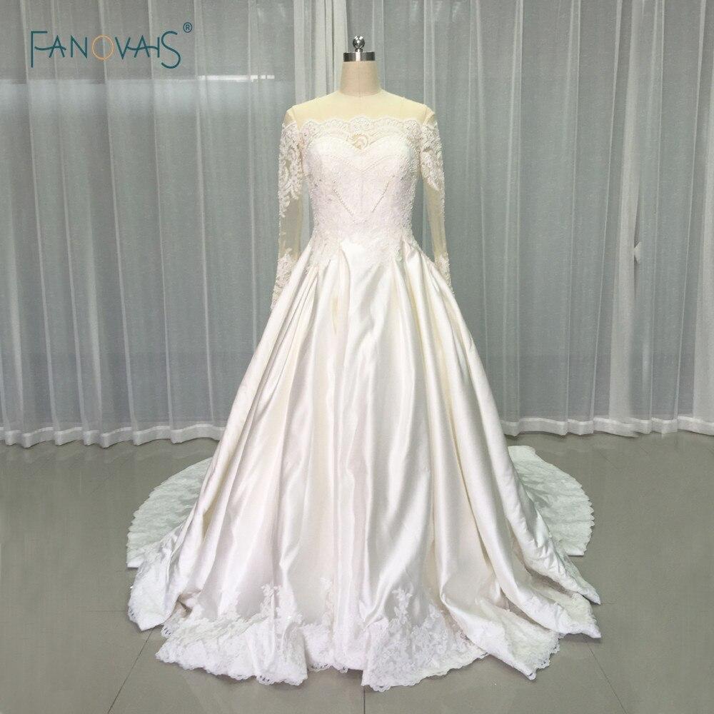 Vintage Wedding Dresses 2017 Long Sleeve Luxury Beaded