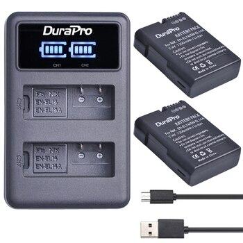 2x EN-EL14 es EL14 EL14A batería + LED cargador Dual USB para Nikon D5600... D5200... D5300... D5500... D3100... D3200... D3300... D3400... P7100... P7800 7700