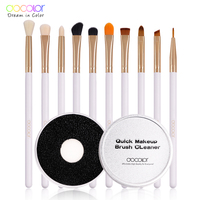 Docolor 10pcs Eyeshadow Makeup Brushes 1pcs Brush Clean Box Suitable For Makeup Brushes Clean Beauty Essential