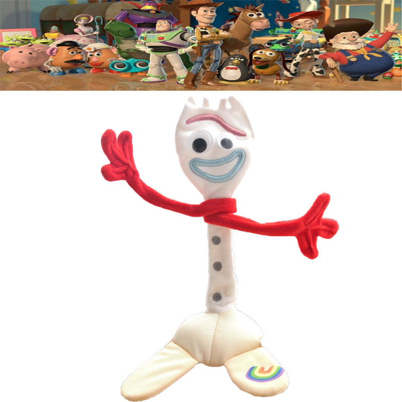 Movie Toy Story 4 Anime Forky Bunny Woody Alien Buzz Lightyear Rex Jessie Stuffed Doll Cartoon Plush Toys Kids Party Gift