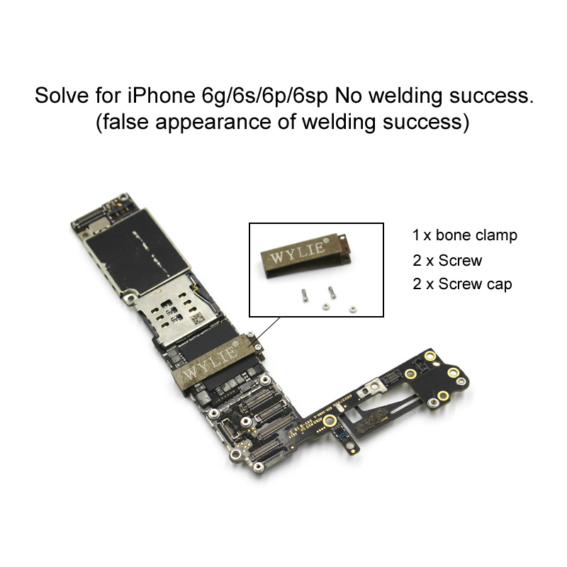 US $2 8 |Fixed skeleton for iphone A8 A9 6g/6s/6p/6sp Welding false image  Motherboard CPU Fixed solder joint Repair clip tools-in Hand Tool Sets from