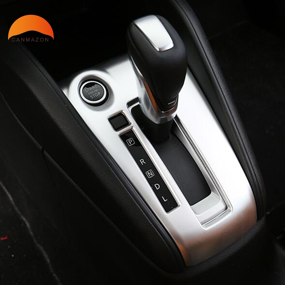 For Nissan Kicks 2016 2017 2018 Car Interior Central Console Gear Shift Panel Box Cover Trim ABS Matte AT Left Hand Drive left handle drive car abs matte interior