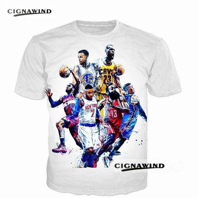 6ad1dc3b New summer fashion Men/women t shirt streetwear T-shirts All-Star Stephen  Curry/James/Harden/Westbrook 3D Print Tee Shirt tops