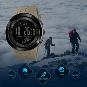 Image 4 - Мужские цифровые часы, водонепроницаемые часы с компасом, калорий, секундомером, спортивные наручные часы, модный мужской браслет, топ бренд, часы SKMEI
