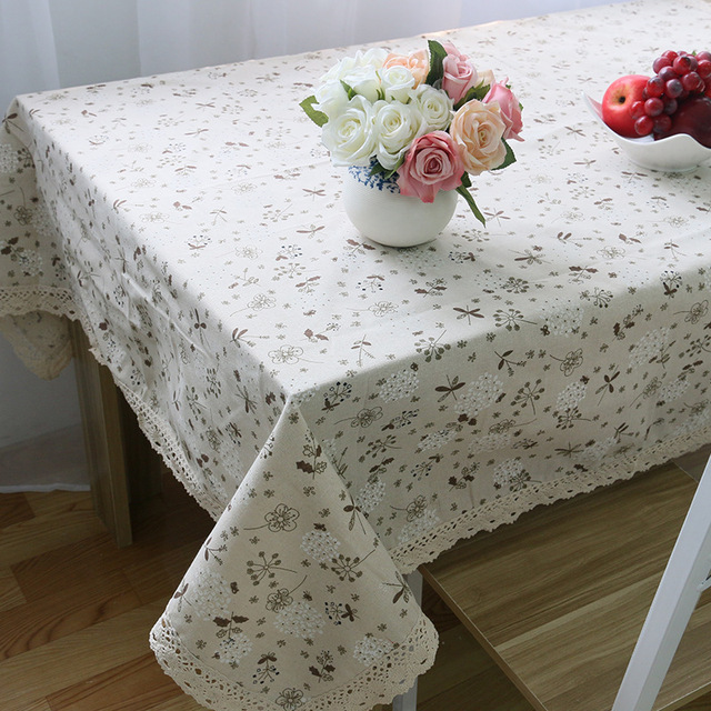 Dandelion – Decorative Tablecloth – Cotton Linen and Lace