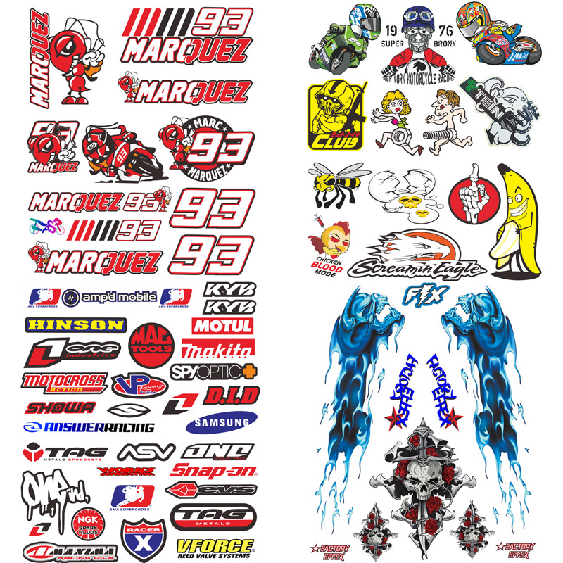 FASP Motorcycle Stickers PVC Reflective car accessories Decals for Racing Motor helmet Refrigerator notebook PC car styling