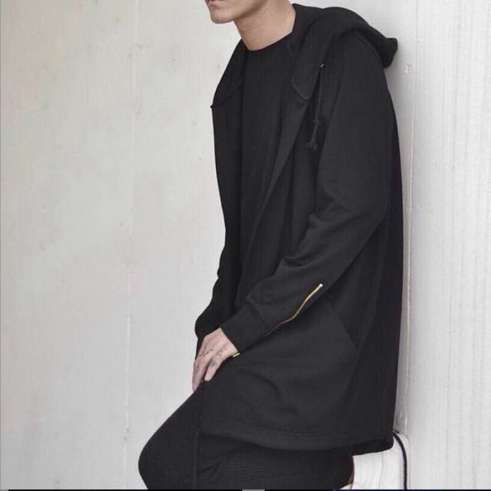 HTB1z50TdwKG3KVjSZFLq6yMvXXam Newly Men Hooded Gown Hip Hop Mantle Coat Hoodies Loose Sweatshirts Long Sleeves Cloak Autumn Winter Outwear DOD886