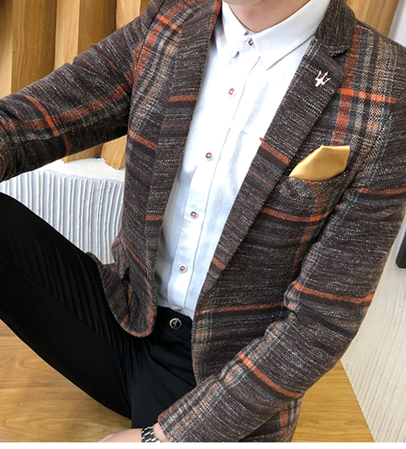 Suit Collar Men Jacket   (9)