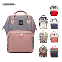 Speedline New Mummy Maternity Bag Diaper Baby Bag Multifunctional Nursing Bag Fashion stitching camouflage Backpack Baby Care