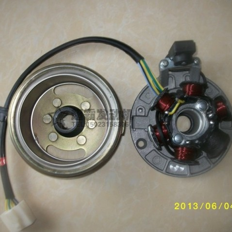 Horizontal Modified Car Parts Pure Kick Start The Six Pole Magnet Motor Coil 130w Full Wave Rotor Stator Embly