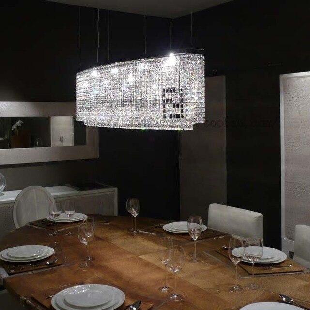 Modern Minimalist Atmosphere Rectangular Led Chandelier Shaped Garden Restaurant