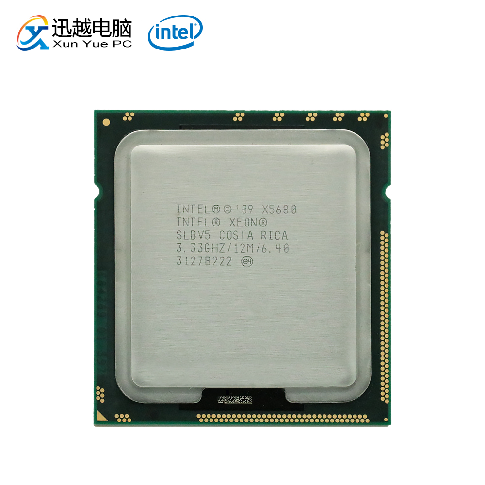 Intel Xeon X5680 שולחן עבודה מעבד שש ליבות 3.33GHz 12MB L3 מטמון 6.4 GT/s QPI LGA 1366 SLBV5 5680 שרת מעבד משומש