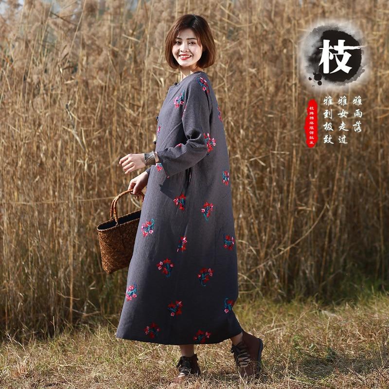 Summer New Women Fashion Folk Style Cotton Linen Sleeveless O-neck Embroidered Maxi Dress Vintage Dress Vestidos Aliexpress Uk