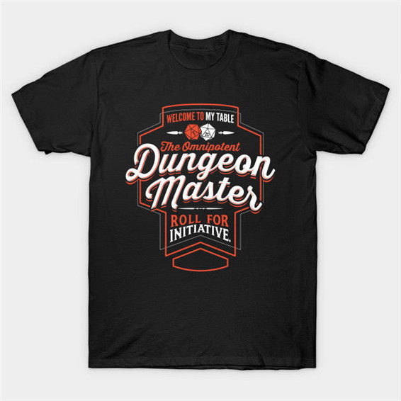 DUNGEON MASTER Fantasy RPG T Shirt Tees Clothing Classic Quality High Confortable T Shirt image