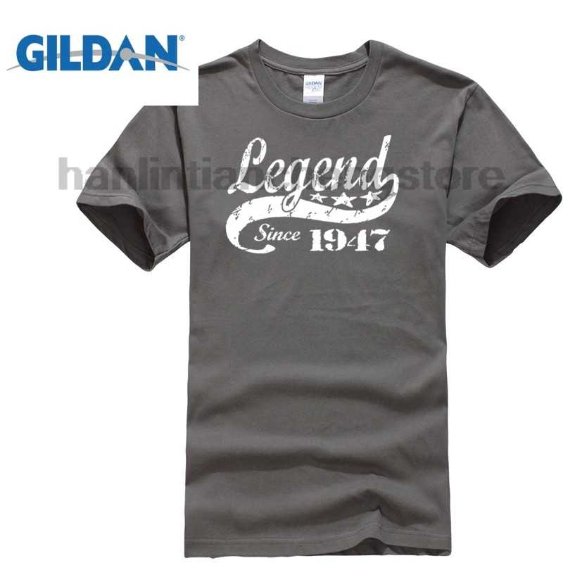 70th Birthday Legend Since 1947 70 Years Old Gift Idea Dad Present Black T Shirt Men