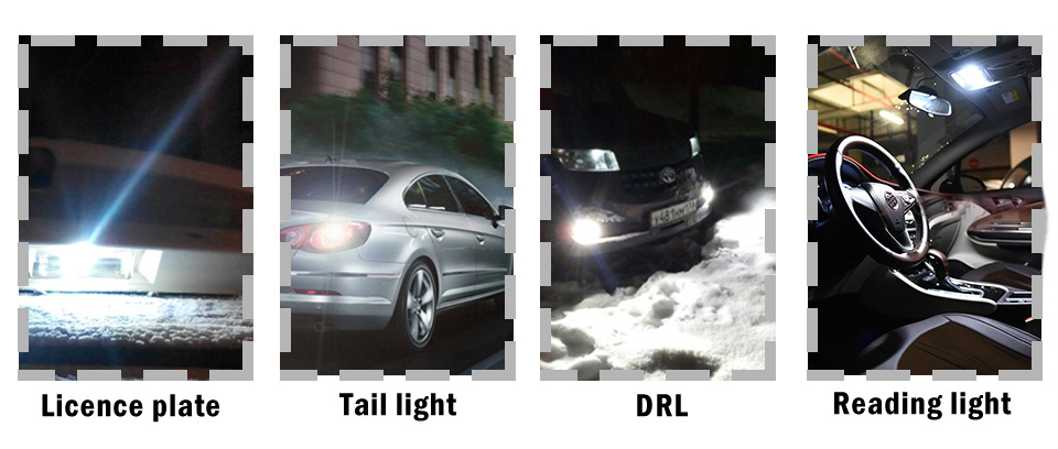 3030 SMD 350LM T10 W5W LED Car Clearance Lights Reading Lamp Auto Vehicle Dome Door Bulb Accessories Pure White 6000K
