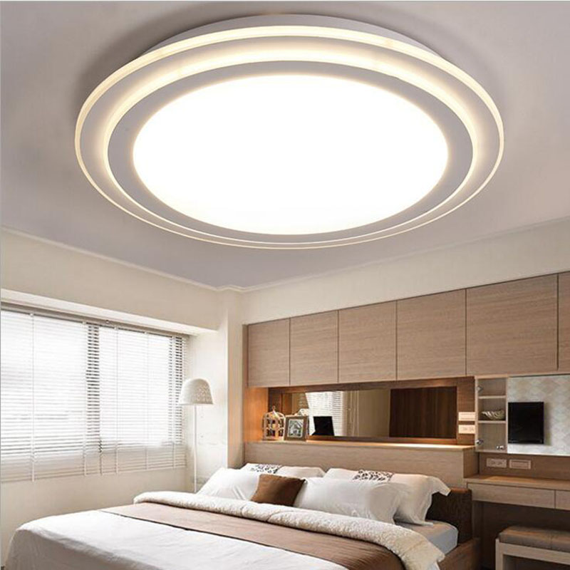 Round wrought iron led living room ceiling lamp simple acrylic bedroom lights restaurant lights aisle lamps led lighting fixture modern jane round led ceiling living room lamp bedroom lamp aisle material acrylic diameter 30cm 40cm ac110 240v