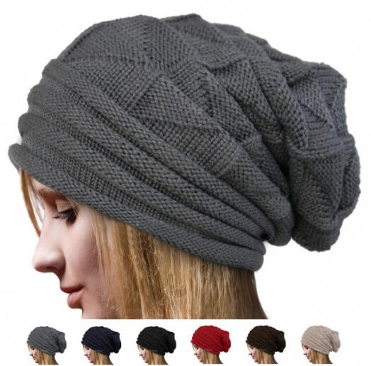 2019 Newest Hot Men Women Knit Oversize Baggy Slouchy   Beanie   Warm Winter Hat Ski Chic Cap Skull Fresh Fashion Autumn Girl Lady