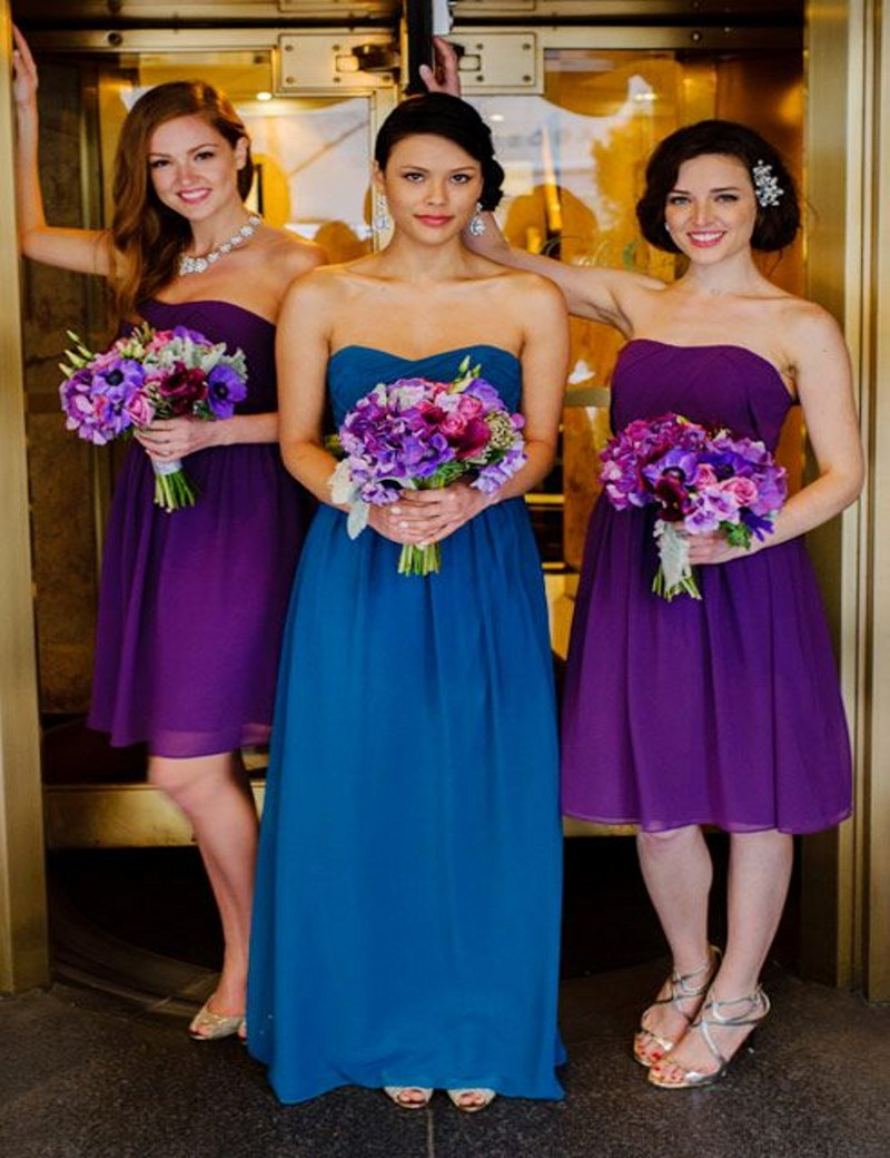 Online get cheap navy and champagne bridesmaid dresses aliexpress 2 style long bridesmaid gown navy bluepeachivorychampagnesilveryellowhuntergold chiffon bridesmaid dresses fast shipping ombrellifo Image collections