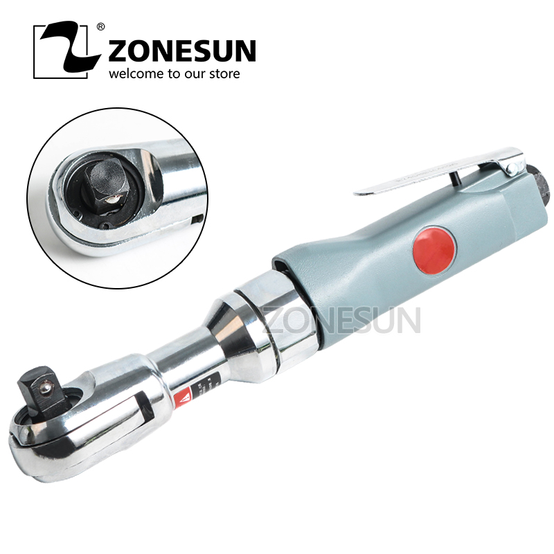 ZONESUN 1/2'' Pneumatic Tool Ratchet Wrench with Air Inlet Interface and Adjustable Switch for Car Repair Disassemble toro 2701 1 2 car repair disassemble pneumatic ratchet wrench tools with air inlet interface and adjustable switch