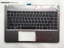 цена на US English Backlit laptop Keyboard For ASUS U47 U47A U47VC silver with C shell palmrest Upper cover US Layout