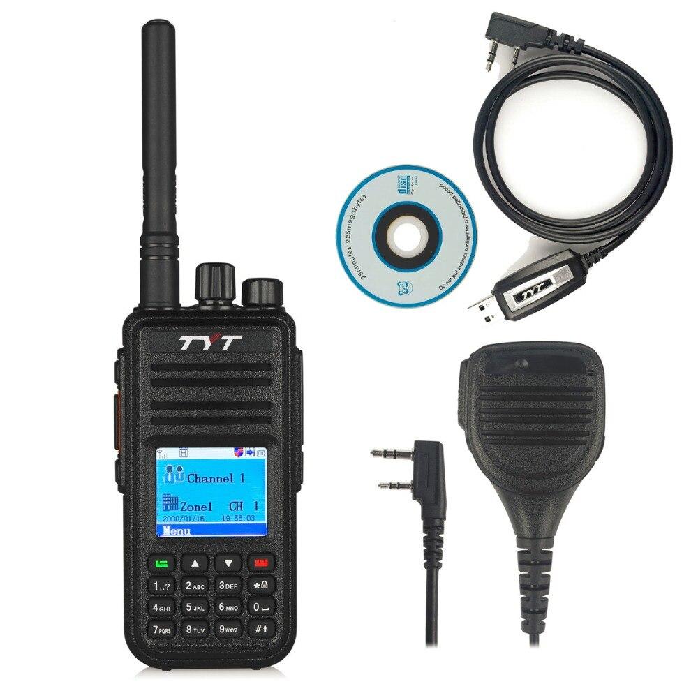 bilder für TYT MD-380 UHF 400-480 MHz DMR Digital Radio 1000 Kanäle Walkie Talkie + Programmierkabel & CD md380 + Original Fernbedienung Lautsprecher