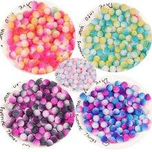 Мяч yangmei жемчуг разноцветный 12 мм abs круглые имитация жемчуга