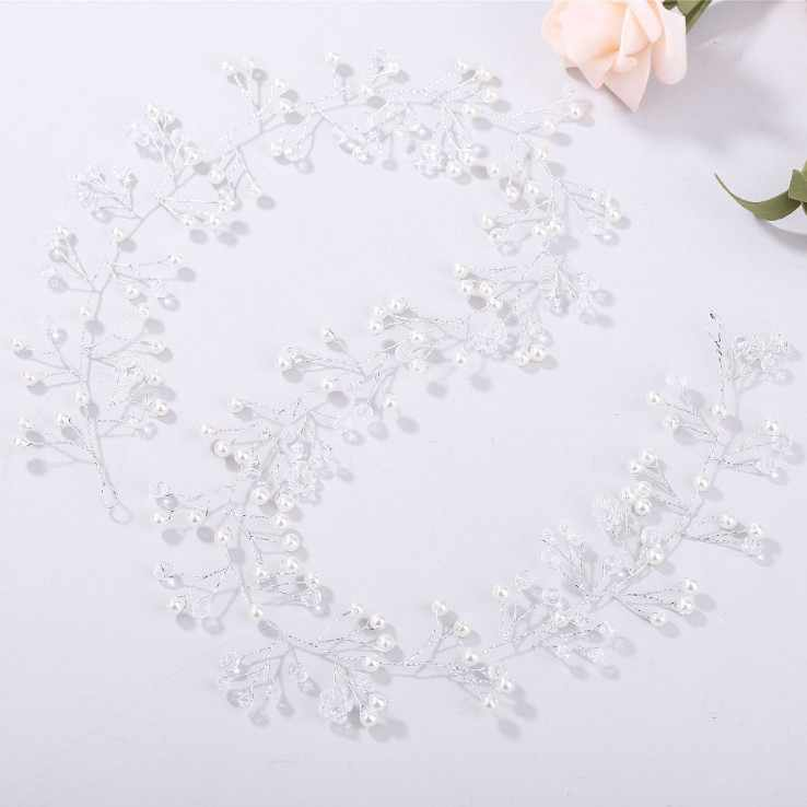 Bijoux de mariage mariée accessoires de cheveux de mariage couronne blanc rouge fleur perle cristal ornements de cheveux coiffure de mariée pour la main