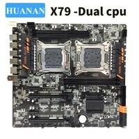 HUANAN huananzhi X79 двойной Процессор LGA2011 LGA 2011 материнская плата с двухъядерным процессором DDR3