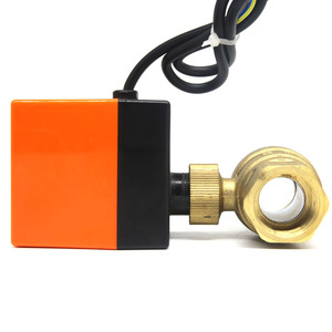 Image 4 - DN15/DN20/DN25 חשמלי ממונע פליז כדור שסתום DN20 AC 220V 2 דרך 3 חוט עם מפעיל