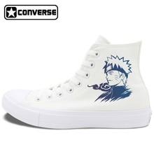 Converse Chuck Taylor II All Star Black White Skateboarding Shoes Design Anime Uzumaki Naruto High Top Men Women Canvas Sneakers