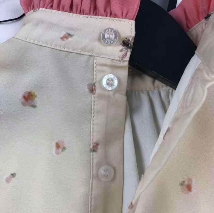 Платье для выпускного вечера для девочек коллекция 2019 года, весенние модные шифоновая с цветочным принтом и оборками, с бантом, платья-пачки для девочек детское платье детская одежда
