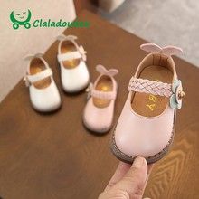 0260920ff7f32 Pied 11-15 CM Filles Chaussures En Cuir Pu Fleur Large Bout Rond Enfant  Filles
