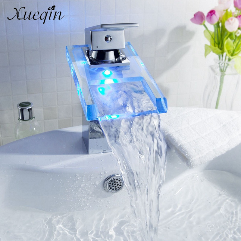 Xueqin Deck Mount Chrome Bathroom Basin Faucet Shower Bath Faucets ...