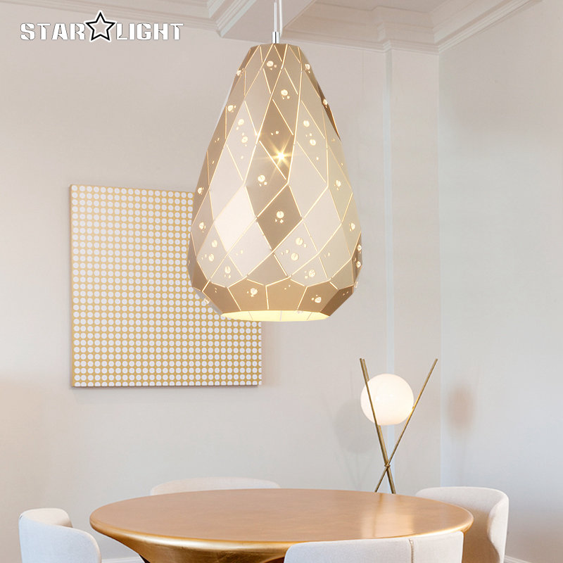 Crack light series Modern LED Pendant light crystal Gold gem shade Lamp for Bedroom Living Room luminaria Indoor Pendant lamp inpower pro 11 5 crack unlimited installation