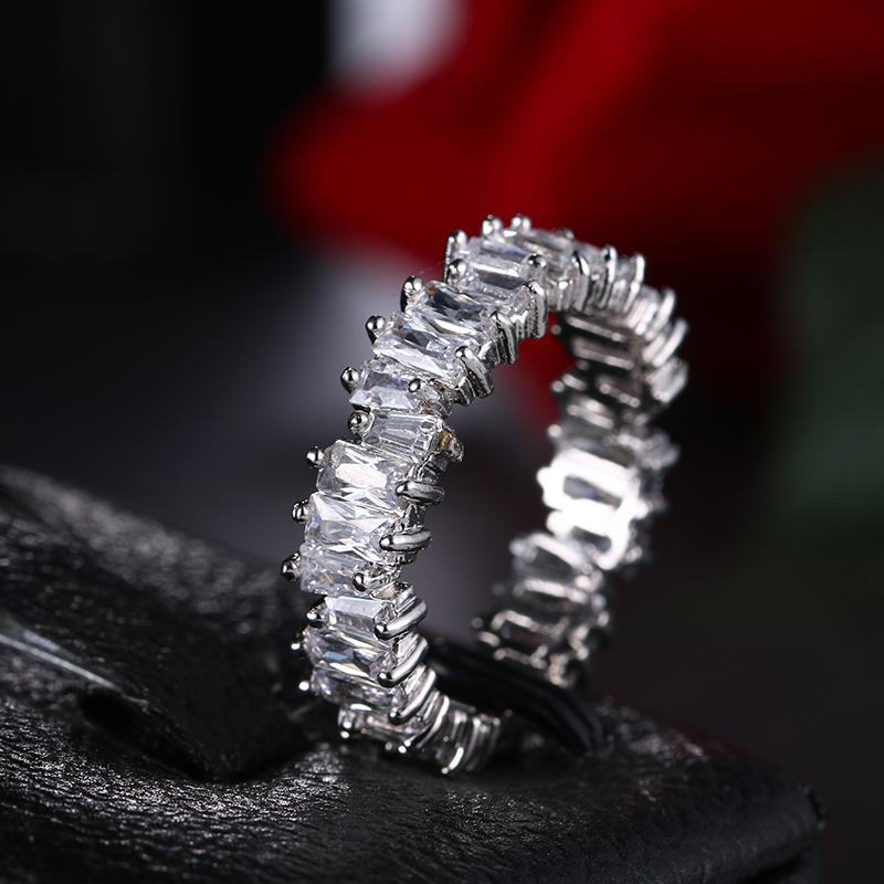 Новые Модные прозрачные обручальные кольца с фианитом для женщин