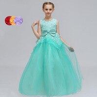2018 romantische Tüll Blumenmädchen Kleid Sleeveless für Hochzeiten Ballkleid Mädchen Party frist Kommunion Kleider Pageant Kleid für kinder